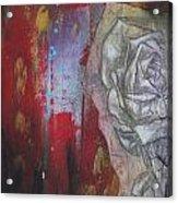 Aqua Red Rose No.3 Acrylic Print