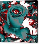 Aqua Rose - Abstract Acrylic Print