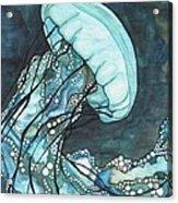 Aqua Sea Nettle Acrylic Print