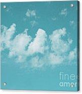 Aqua Sky Meditation Acrylic Print