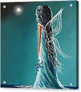 Aquamarine Fairy By Shawna Erback Acrylic Print by Shawna Erback