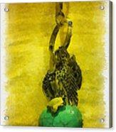 Aquarelle Watercolor Turquoise Heart Acrylic Print