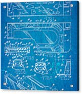 Aquarium Bath Patent Art 1982 Blueprint Acrylic Print