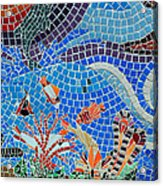 Aquatic Mosaic Tile Art Acrylic Print