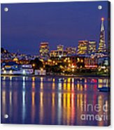 Aquatic Park Blue Hour Acrylic Print
