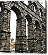 Aqueduct Of Segovia - Spain Acrylic Print by Juergen Weiss