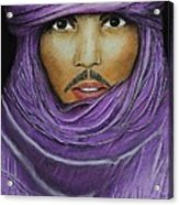 Arab In Traditional Costume Acrylic Print by David Hawkes