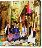 Arab Merchants Of Jerusleum Acrylic Print