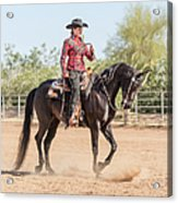 Arabian Horse With Rider Dressed For Acrylic Print