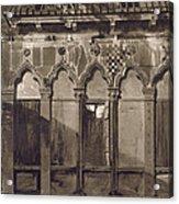 Arabian Windows, In Campo Santa Maria Acrylic Print
