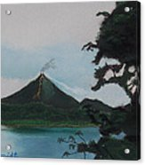 Aranal Volcano Costa Rica Acrylic Print