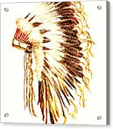 Arapaho War Bonnet Acrylic Print