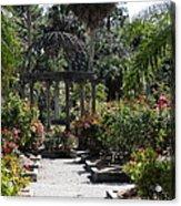 Arbor In The Rose Garden Acrylic Print