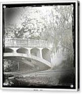 Arboretum Bridge Acrylic Print by Justine Connolly