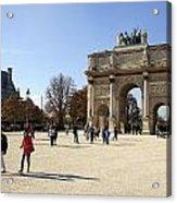 Arc De Triomphe Du Carrousel In Paris France  Acrylic Print