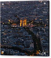 Arc De Triomphe From Above Acrylic Print