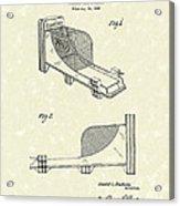 Arcade Game 1936 Patent Art Acrylic Print by Prior Art Design