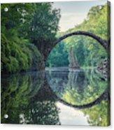 Arch Bridge (Rakotzbrucke) in Kromlau Acrylic Print