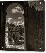 Arch Of Constantine From The Colosseum Acrylic Print