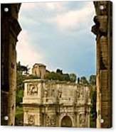 Arch Of Constantine Through The Colosseum Acrylic Print