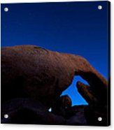 Arch Rock Starry Night Acrylic Print