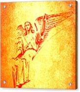 Archangel Michael  Acrylic Print by Lali Kacharava