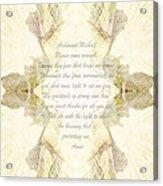 Archangel Michael Remove Fear  Acrylic Print
