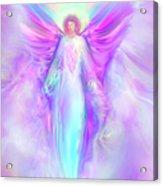 Archangel Raphael Acrylic Print by Glenyss Bourne