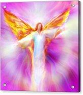 Archangel Sandalphon In Flight Acrylic Print