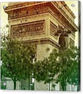 Arche De Triomphe Mood Acrylic Print