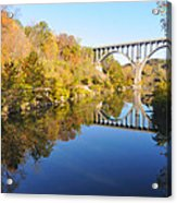 Arched Bridge Over Blue Water Acrylic Print