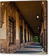 Arched Corridor Acrylic Print