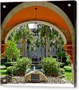 Arched Courtyard Acrylic Print
