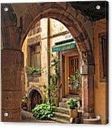 Arched Doorway In Kayserberg Acrylic Print