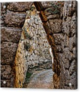Arched Medieval Gate Acrylic Print