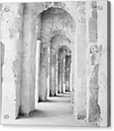 Arched Walkway At Entrance Of The Old Roman Colloseum At El Jem Tunisia Acrylic Print