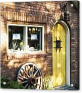 Arched Yellow Door Acrylic Print
