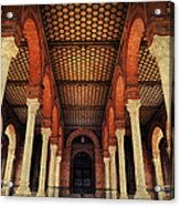 Arches And Columns Of Plaza De Espana 1. Seville Acrylic Print