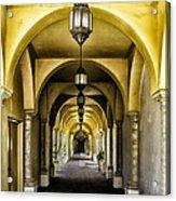 Arches And Lanterns Acrylic Print by Thomas R Fletcher