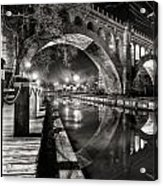 Arches At Night. Acrylic Print