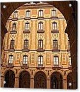 Arches Of Montserrat Monastery Catalonia Spain  Acrylic Print