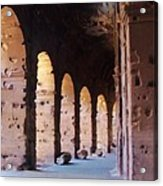 Arches Of The Roman Coliseum Acrylic Print by Jan Moore