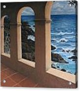 Arches Over The Ocean Acrylic Print