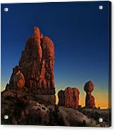 Arches After Sunset Acrylic Print