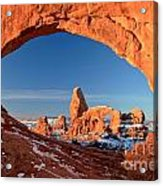 Arches Window Frame Acrylic Print
