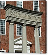 Architectural Columns With Equal Justice Acrylic Print