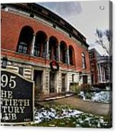 Architecture And Places In The Q.c. Series 01 The Twentieth Century Club Acrylic Print
