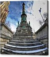 Architecture And Places In The Q.c. Series  Soldiers And Sailors Monument In Lafayette Square Acrylic Print