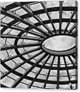 Architecture Ceiling In Black And White Acrylic Print