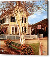 Architecture - Woodstock Vt - Where I Live Acrylic Print by Mike Savad